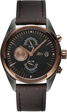 JBW Woodall Two-Tone Rose Gold and Gunmetal Diamond Multi-Function Men's Watch