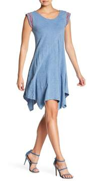 Spense Washed Hanky Hem Knit Dress