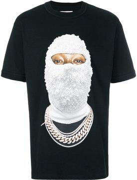 Ih Nom Uh Nit gold face print T-shirt