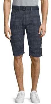 ProjekRaw Plaid Cotton Shorts