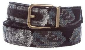 Dolce & Gabbana Embroidered Buckle Belt w/ Tags