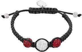 Ball Florida State Seminoles Crystal & Sterling Silver Team Logo Slipknot Bracelet