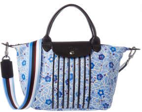 Longchamp Le Pliage Cuir Fleuri Small Top Handle - BLUE - STYLE