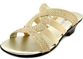 Karen Scott Emet Open Toe Canvas Slides Sandal.