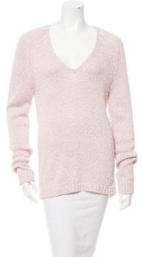 Amina Rubinacci Open Knit V-Neck Sweater w/ Tags