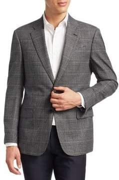Armani Collezioni Slim-Fit Plaid Wool Sportcoat