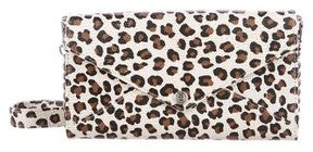 Rebecca Minkoff Printed Leather Wallet On Chain - ANIMAL PRINT - STYLE
