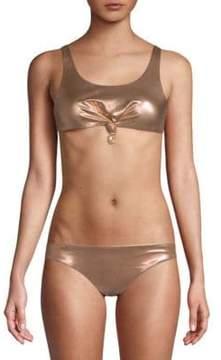 Dolce Vita Knotted Cropped Bikini Top