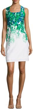 Donna Ricco Women's Cotton Floral Print Sheath Dress