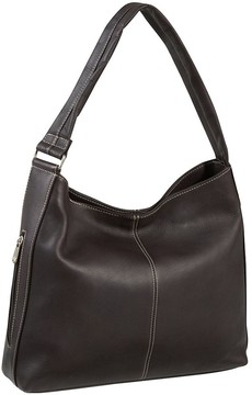 Le Donne Leather Shoulder Tote with Side Zip Pocket