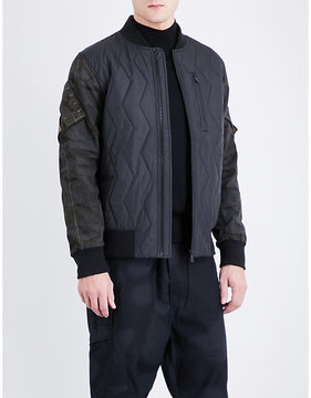 Christopher Raeburn Camouflage-sleeve quilted bomber jacket
