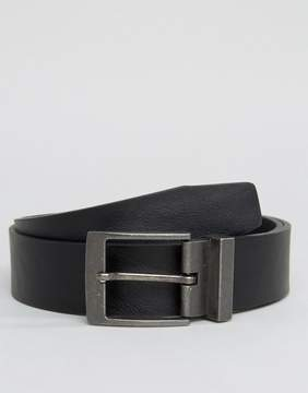 New Look Belt With Gunmetal Buckle In Black