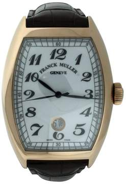 Franck Muller Cintree Curvex 18K Rose Gold & Leather 39mm x 55mm Watch