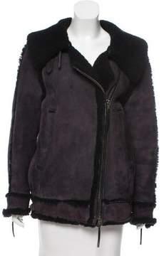 Diesel Suede Shearling Jacket