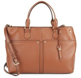 Ilianna Leather Crossbody Bag