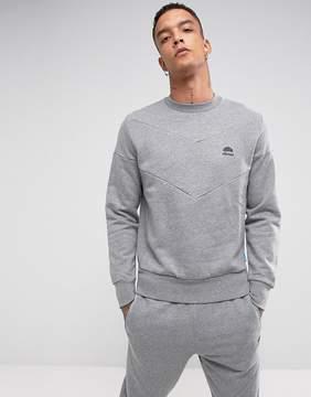 Ellesse Italia Chevron Sweatshirt In Gray