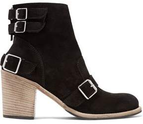 Belstaff Wix Buckled Suede Ankle Boots