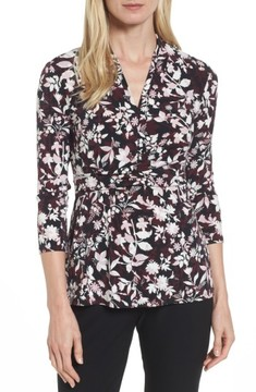 Chaus Women's Palace Vines Faux Wrap Top