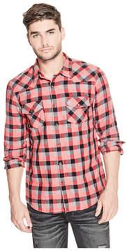 GUESS Walker Plaid Slim Shirt