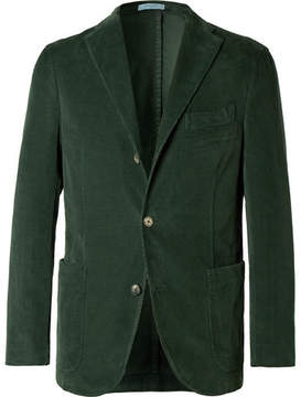 Boglioli Green Slim-Fit Stretch-Cotton Corduroy Blazer