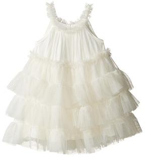 Mud Pie Ivory Mesh Dress Girl's Dress
