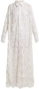 Ashish Embroidered lace cotton maxi dress