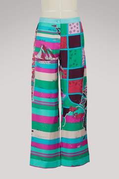 Emilio Pucci Florida printed silk trousers