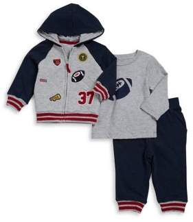 Little Me Baby Boy's Three-Piece Cotton Hoodie, Top and Jogger Set