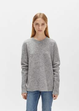 6397 Mohair Crewneck Pullover Heather Grey