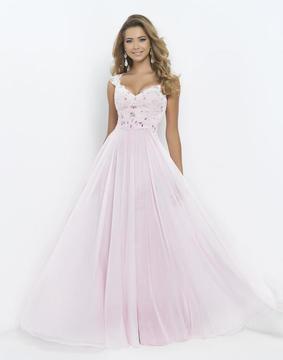 Blush Lingerie V Neck Cap Sleeve Long Dress 9986
