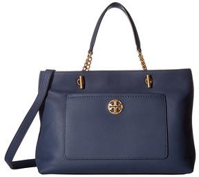 Tory Burch Chelsea Satchel Satchel Handbags - BLACK - STYLE