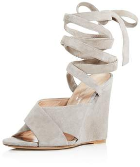 Charles David Quest Ankle Wrap Wedge Sandals