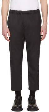 Oamc Grey Cropped Drawcord Trousers