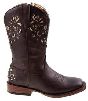 Nanette Lepore Kids' Western Square Toe Cowboy Boot Pre/Grade School