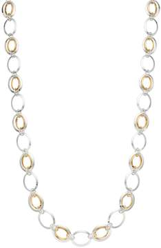 Chaps Long Two Tone Oval Link Necklace