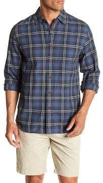 Grayers Truman Point Collar Plaid Print Regular Fit Woven Shirt