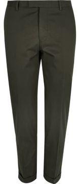 River Island Mens Olive green skinny suit pants