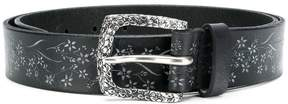Orciani floral printed medium width belt