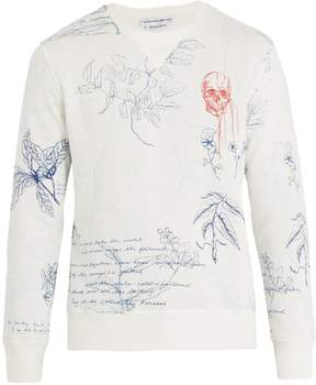 Alexander McQueen Leaf-print cotton sweater