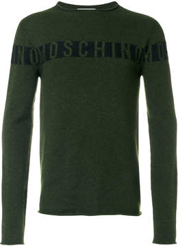 Moschino knitted logo sweater
