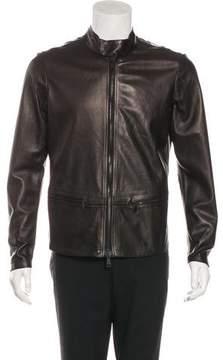 Giorgio Brato Leather Zip Jacket w/ Tags