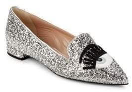 Chiara Ferragni Glitter Slip-On Pumps