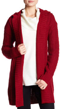 Cable & Gauge Dropped Sleeve Open Front Cardigan