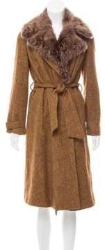 Bottega Veneta Tweed Donegal Knit Coat
