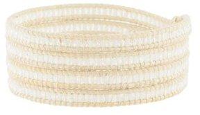 Chan Luu Crystal Leather Wrap Bracelet