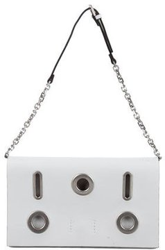 Calvin Klein Collection Grommet-Trimmed Leather Handle Bag