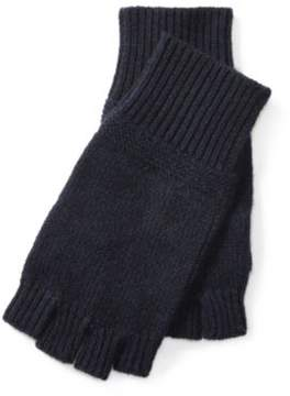 Ralph Lauren Cashmere Fingerless Gloves Navy One Size