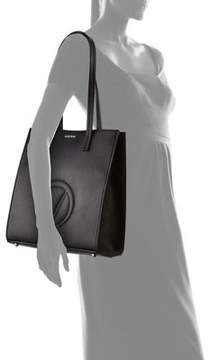 Mario Valentino Valentino By Laurene Dollaro Leather Shoulder Tote Bag