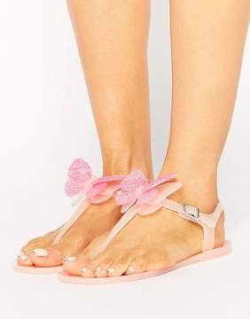 Miss KG Dina Butterfly Toepost Jelly Flat Sandals