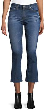 AG Adriano Goldschmied Women's Led High-Rise Cropped Jeans - Blue, Size 28 (4-6)